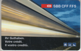 CARTE  KDO  SUISSE * GIFT CARD     ***   TRAIN - ZUG - RAIL  - CFF - SBB - FFS    *** - Cartes Cadeaux