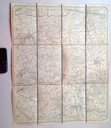 STAFKAART 16/6 Situatie 1865 BERLAAR NIJLEN BOUWEL  HERENTHOUT LILLO BEVEL ITEGEM ELZENHOEK GESTEL  BERNUM HERLAAR S893 - Berlaar
