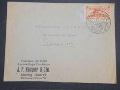 SARRE - Enveloppe Commerciale De Merzig Pour Paris En 1935 , Oblitération Plaisante - L 10073 - 1920-35 Société Des Nations