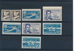M-598: SUISSE:   Lot Avec  N°253*(2)-258/59*(2)- - Unused Stamps