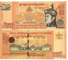 BHUTAN  1000 Ngultrum   NEW Issue 2016   P34b    UNC - Bhutan