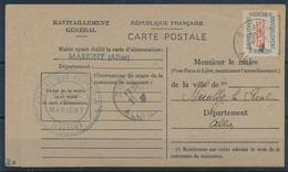 M-599: FRANCE:   Lot Avec  Service Sur CP TB (+ Une Rouillée Non Compté) - Officials