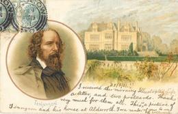 Série Ecrivains Anglais - Lithographie: Alfred Lord Tennyson, Aldworth House, Blackdown - Carte Dos Simple - Scrittori
