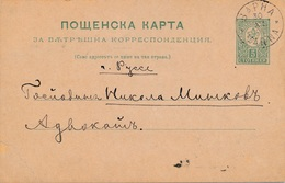 Entier Postal Varna Bulgarie 1895 - Ganzsachen