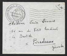 Seine Et Marne - Commission De Gare - VERNEUIL L' ETANG  1940 - Marcophilie (Lettres)
