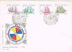 26508. Carta F.D.C. WARSZAWA (Polska) Polonia 1964. Ship, Barcos, Bateau. Brujula - 1944-.... República