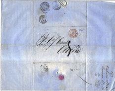 LETTRE ANCIENNE 1859 - MARQUE POSTALE < VALENCIA < JUNQUERA < PERPIGNAN < OLORON - Ohne Zuordnung