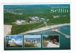 19707   CPM  Ostseebad SELLIN ; Multivues  , - Sellin