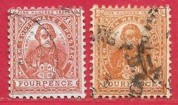Nouvelle-Galles Du Sud N°61 4p Brun-rouge & N°61a 4p Brun-orange 1888 O - Oblitérés