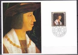 Liechtenstein (1982):- Famous Visitors 2nd Series/Emperor Maximilian (40 Rp):- MAXI CARD - Maximum Cards