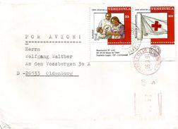 "Venezuela 1996 Caracas Red Cross Child Care Meter Satas ""Baby"" S017 Only Second Seen On Cover - Venezuela"