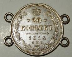 Russia - 20 Kopek - 1914 - (25) - Russie