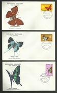 CONGO / Lot 3 Enveloppes FDC / BRAZAVILLE 1971 - Butterflies