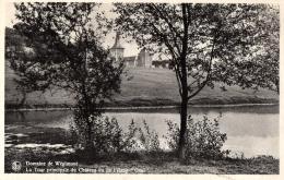 """BELGIQUE - LIEGE -SOUMAGNE - AYENEUX - Domaine De Wégimont - La Tour Principale Du Château Vu De L'étang """"Gosi"""". - Soumagne"""