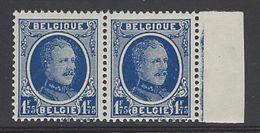 België Nr.257a V2 Rechter 7 Met Traan - In Paar - Errors (Catalogue COB)