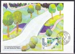 Liechtenstein (1988):- European Rural Areas Campaign/Traffic Planning (1.70 Fr):- MAXI CARD - Maximum Cards
