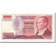 Turquie, 20,000 Lira, L.1970 (1988), 1970-10-14, KM:201, TTB - Turquia