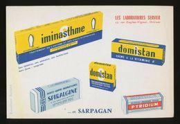 Buvard  -  PYRIDIUM - Laboratoires SERVIER - Produits Pharmaceutiques