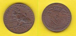 1 Centime 1887 Leopold II Belgique Belgium Belgio - 1865-1909: Leopoldo II