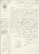 D 63 MARINGUES Extrait De Naissance JULIEN SAUZE 15 Avril 1807 Timbre Imperial De 1fr50 Gros Timbre Imperial En Filigram - Unclassified