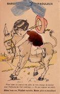 BAROMÈTRE MIRACULEUX : FILLETTE SUR ÂNE / GIRL On DONKEY - CARTE ATTRIBUABLE à GERMAINE BOURET ( ? ) RARE ! (ab128) - Bouret, Germaine