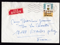 Senegal: Airmail Cover To France, 1983, 1 Stamp, Philatelic Exhibition, Air Label (damaged, See Scan!) - Senegal (1960-...)