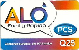 Guatemala - Aló - Aló Fácil Y Rápido PCS, 25Q, GSM Refill, Used - Guatemala