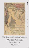 RARE Télécarte Japon - PEINTURE FRANCE & CZ - MUCHA - SALON DES CENT SUNTORY POSTER COLLECTION - Japan Painting Pc 1707 - Pintura