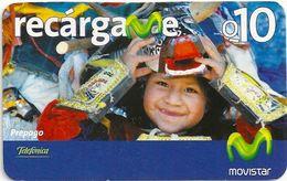 Guatemala - Telefonica Movistar - Dressed Girl, 10Q, GSM Refill, Used - Guatemala