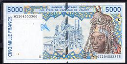 SENEGAL 2002   5000 FRANCOS PEINADO INDIGENA, INDUSTRIA,ARTESANIA  EBC  XF     PÌCK Nº 713 K   B1117 - Senegal
