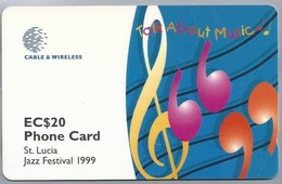Telefoonkaart. PHONE CARD St. Lucia. Jazz Festival 1999. EC$20. Limited Edition. 2 Scans - Saint Lucia