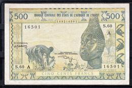 COSTA DE MARFIL 1965  500 FRANCOS TALLA EN MADERA  INDIGENA, SIEMBRA ,TRACTOR   PÌCK Nº 102 A    B1117 - Côte D'Ivoire