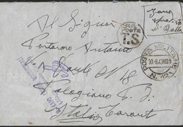 STORIA POSTALE REGNO - BUSTA P.M. 12 (PRIZREN-KOSSOVO) (p.2) 30.08.1943 - PER PALAGIANO (TA) - 1900-44 Victor Emmanuel III