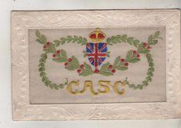 Carte Brodée - Ecusson Anglais - Inscription C A S C Ou C A 5 C - Militaria