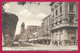 CPA Tunisie - Tunis - Avenue Jules Ferry - Tunesië