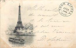 PARIS - La Tour Eiffel ,cachet Juin 1900 + Exposition Universelle. - Tour Eiffel