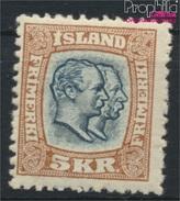 Island 62 Postfrisch 1907 Christian IX. Und Frederik VIII. (8883155 - Islande