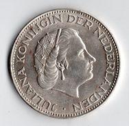 4 Pièces Argent ,silver , Juliana , 2 1/2 Gulden 1961 , 1 Gulden 1955 , 1 Gulden  1957 , 25 Cents Wilhelmina 1944 - [ 3] 1815-…: Königreich Der Niederlande