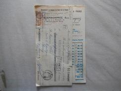 MARCQ EN BAROEUL GUERMONPREZ MANUFACTURE DE BROSSES 31-35 RUE DE LA BROSSERIE FACTURE ET TRAITE  DU 25/10/33 - France