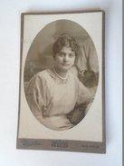 D155749 Old Photo - Atelier MÉREI -Budapest -cabinet Cardboard Photo -Woman -Fashion -Coiffure Ca 1900-10 Art Nouveau - Photos