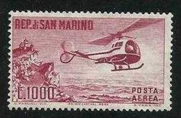 1961 San Marino Saint Marin ELICOTTERO HELICOPTER 1000L Aereo MNH**Air Mail - Elicotteri