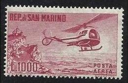 1961 San Marino Saint Marin  ELICOTTERO  HELICOPTER 1000L Aereo MNH** - Elicotteri