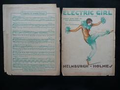 Spartito Electric Girl Shimmy Fox Musica Helmburgh - Holmes Berlin 1922 Ortmann - Vecchi Documenti