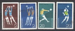 1970 Mi 1807/10 Gest.  Volley Ball  Sport - Bulgarien