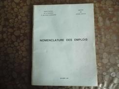Nomenclature Des Emplois - Institut National De La Statistique Et études économiques - 1967 - Decrees & Laws