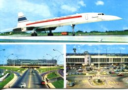 "N°59957 GF-cpsm Aéroport De Paris Orly -avion ""Concorde"" - Aerodromes"