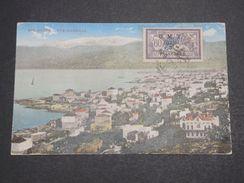 SYRIE - Carte Postale De Beyrouth En 1921 Pour Paris , Affranchissement Merson Surchargé - L 10153 - Syrie (1919-1945)