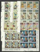 1970 San Marino Saint Marin WALT DISNEY 6 Serie Di 10v.in Blocco Ang. MNH** - Disney