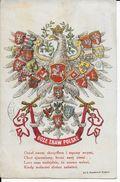 Cpa BOZE ZBAM POLSKE -Armoiries Du Pays Avec Aigle écrite Voyagée Voir Dos Beaux Cachets - Pologne