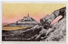SWANSEA : MUMBLES LIGHTHOUSE & NATURAL ARCH / POSTMARK - PONTYPOOL - Lighthouses